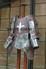 Medieval Warrior Knight Lady Leather & Steel Half Body Armor Suit Cuirass Should