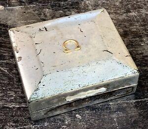 OMEGA  Silver Plated Box Speedmaster 27 CHRO C12 Broad Arrow Lemania Chronograph