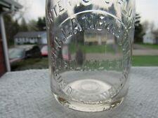 Vintage Glass Bottle Mt Ohio Lamb Chattanooga Glass Works Advertising Vernon