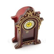 Miniatura Para Casa De Muñecas Estilo Antiguo Marrón Repisa de chimenea Reloj