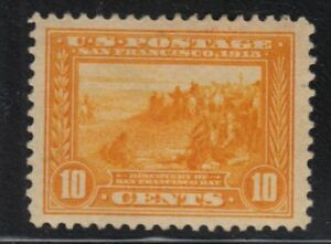 1913 Panama Pacific 10c Sc 400 MH OG single CV $115