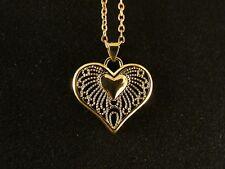 Anhänger 24 Karat Gold Herz Liebe Love Halskette Schmuck Damen Hochzeit