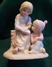Girl & Boy Learning From The Bible Figurine Lefton China - New in Box