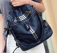 New Fashion Leather Travel Shoulder Women Satchel Backpack School Bag Handbag