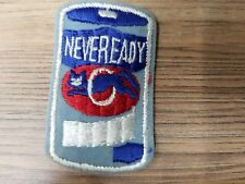 """Vintage 2.75"""" x 1.5"""" NEVEREADY, 1979 Topps Wacky Packages Embroidered Patch NEW!"""