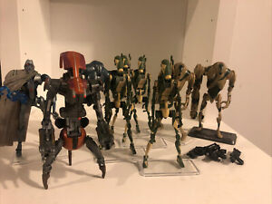 "star wars battle droid lot 9 Figures 3.75"" Kashyyyk Battle Droids And ROTS"