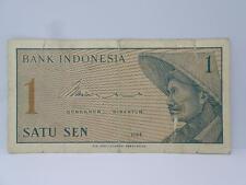 1 X Bank Indonesia Satu Sen 1 Banknote c1964- AFL014295