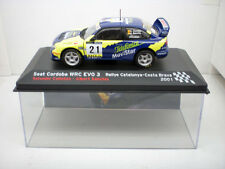 COCHE SEAT CORDOBA WRC EVO 3 1:43 IXO model car rally fiat Costa Brava 2001