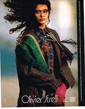 PUBLICITE ADVERTISING 054  1986  OLIVIER STRELLI   haute couture