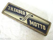 Museale J.H.Faber MOTTO Nostalgie Blechdose Tin Pencil Box  ca.1920