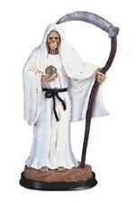 "12"" White Santa Muerte Statue Holy Death Grim Reaper Santisima Skull Figure"