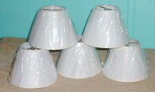 """Lamp Chandelier shades  paper white brown speckled fits bulb brass 5"""" high 6"""" di"""