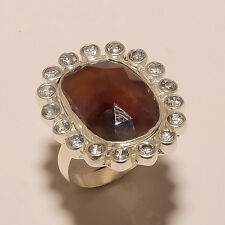 925 SOLID STERLING SILVER NATURAL MULTI SAPPHIRE & CZ CLASSIC RING W00500