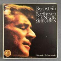 B046 Beethoven The 9 Symphonies Bernstein 7LP CBS S 77703 Stereo