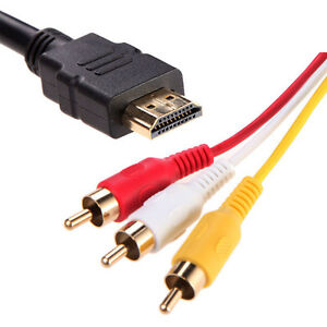 HDMI TO RCA Cable for Sony PlayStation PS3 PS4 RCA