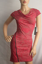 MARC Andrew Dress Women Short Sleeve Red size Full Zip size 2