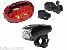 KIT Fanale Anteriore + Posteriore Bici MTB + City Bike 5 LED