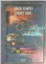 folder postale giochi olimpici sidney 2000 - emissione del 01-09-2000