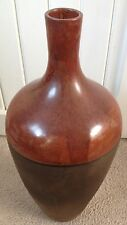 Hand Crafted Glazed Ceramic Vase Modernist Lava Volcano Modern Art Red Brown