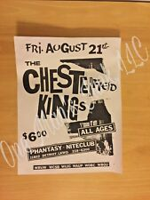 Vintage ~ The CHESTERFIELD KINGS Original Concert Flyer '80s  ~ VERY GOOD