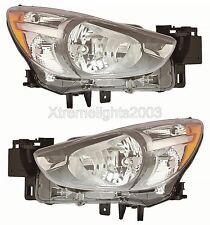 MAZDA 2 2016 LEFT RIGHT HEADLIGHTS HEAD LIGHTS FRONT LAMPS PAIR NEW