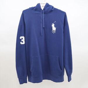 Polo Ralph Lauren Hoodie Sweatshirt Mens 2XLT Tall Blue Big Pony Logo