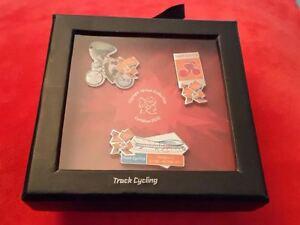 London Olympics 2012 - 3 Pin Box Set - Track Cycling - £3.50