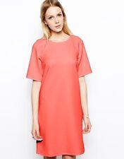Girls on Film T-Shirt Dress in Scuba - Bright coral / AU 6 - BNWT