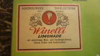 OLD GERMAN SOFT DRINK CORDIAL LABEL, WENELLI BREWERY, LIMONADE