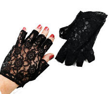 1980s Black Lace Fingerless Gloves Madonna Ladies 80s Fancy Dress