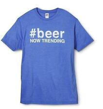 #BEER NOW TRENDING  ~ Beer Themed Graphic T-Shirt ~ Men's S Small ~ NEW