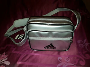 Adidas Silver Metallic Side Bag Brand New With Tags