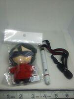 2pc Evangelion plush figure lanyard keychain strap charm Japan kawaii anime lot