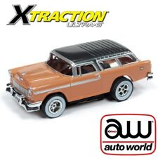 Auto World Xtraction R26 1955 Chevy Nomad Tan Ho Slot Car Afx Aurora Tomy