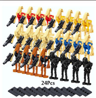 24 Pcs Minifigures-Star Wars Character Battle Droid Clone Trooper Robot Lego MOC