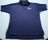 Vintage 80s Spuds MacKenzie Polo Shirt Bud Light Beer Blue Distressed