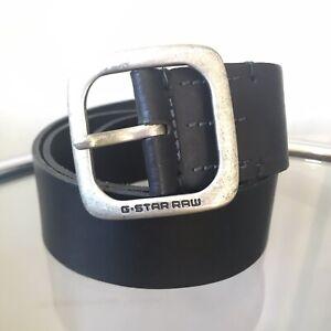 G-Star Raw Mens Belt Size 110cm 43 inch Black Leather BNWT