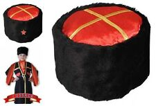 Russian Cossack Hat ~KUBANKA~ The Kuban Kozaks Headwear with Red Army Star Badge