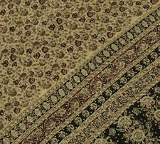 Vintage Saree 100% Pure Crepe Silk Printed Hand Embroidered Kantha Sari Fabric