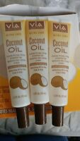 3 OF VIA NATURAL CARE COCONUT OIL, Moisturizing for HAIR, SKIN, BODY 1.5 OZ