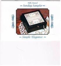 Stoney Creek 5th Annual Sunday Sampler Simple Elegance Counted Cross Stitch Kit