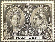 Canada Scott #50 Queen Victoria 1897 Jubilee Half Cent Black Mint F-VF HR