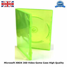 XBOX 360 Single Green Microsoft Game Case NEW REPLACEMENT HIGH QUALITY COVER