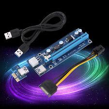 USB3.0 PCI-E PCI Express 1x à 16x Riser Graphics Extension Adaptateur SATA Câble