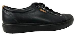 Men's Ecco Casual Lace Up Shoes Black Size 44 Eur 10-10 1/2 US