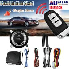 AU Keyless Entry Car Alarm System Remote Start & Push Button Start Engine Kit