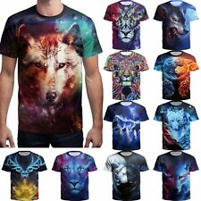 Men's 3D Printed Animals T-shirts Soft Short Sleeve cotton Tee Casual Tops