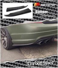 Side Skirt Carbon Fibre Rear Bumper Extension for Mercedes W204 Pre-Facelift AMG