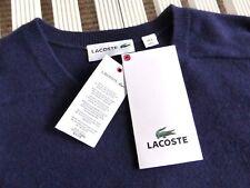 LACOSTE 5, US L , 100% CASHMERE Navy Crew Neck Sweater Jumper (UK equiv XL )