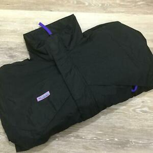 VINTAGE COLUMBIA Radial Sleeve Mock Neck Black Whirlibird Ski Jacket Mens Size M